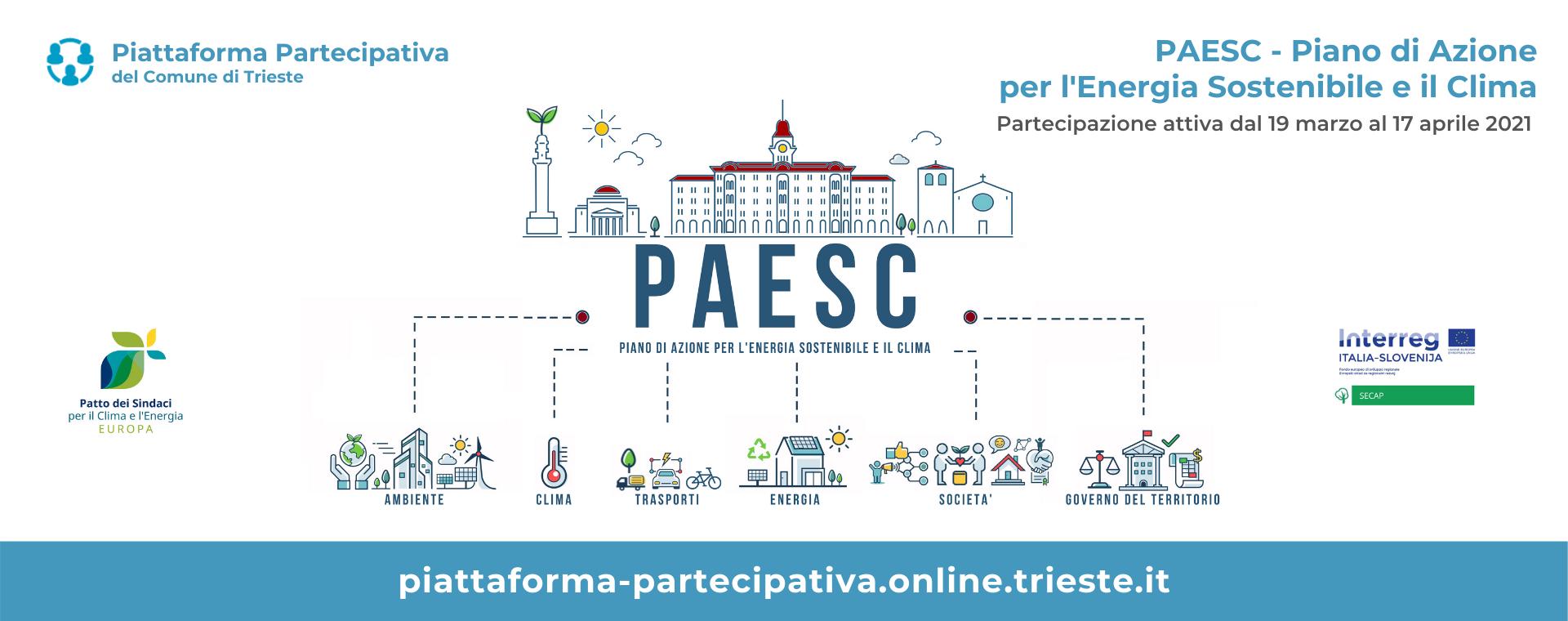 Online la piattaforma partecipativa per la redazione del Piano d'Azione per l'Energia sostenibile e il Clima