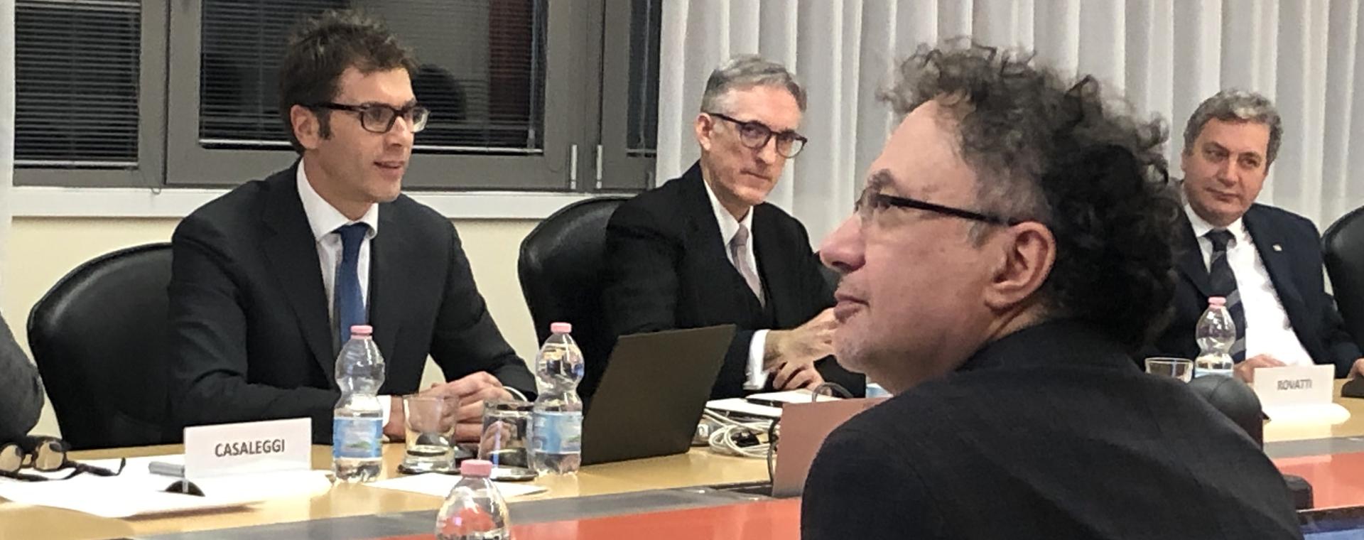 Michele Geraci, Sottosegretario del Ministero dello sviluppo economico, visita Area Science Park