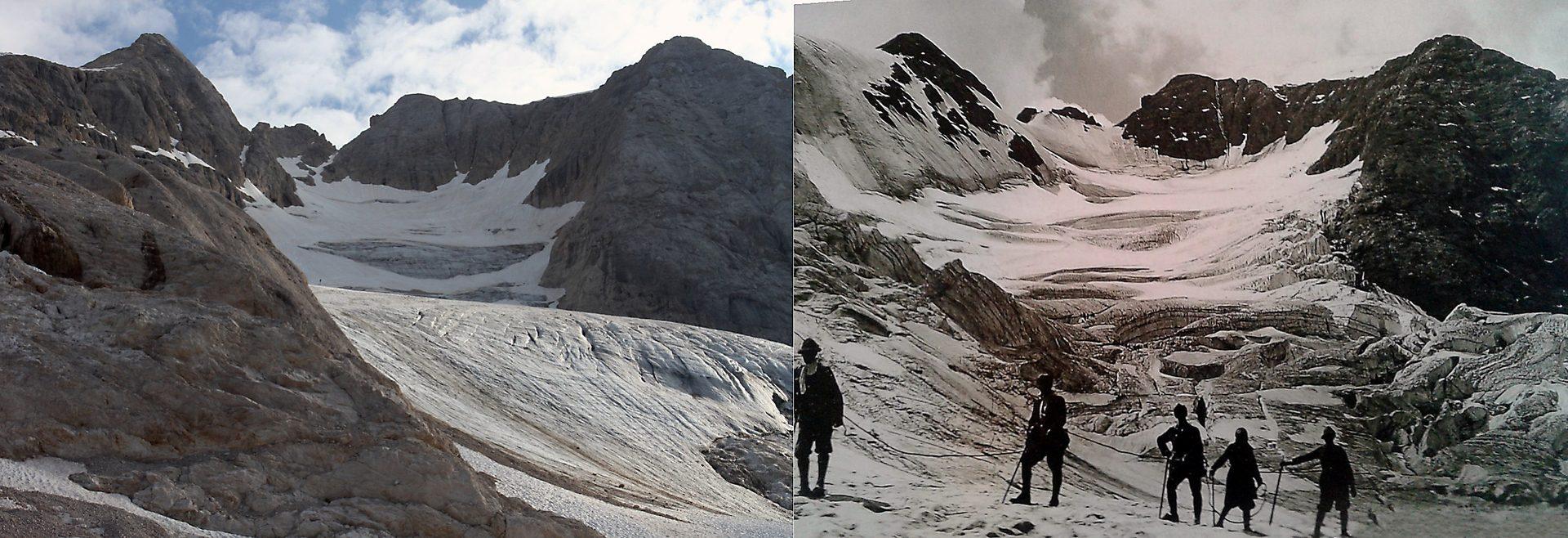 Il ghiacciaio della Marmolada scomparirà nei prossimi decenni