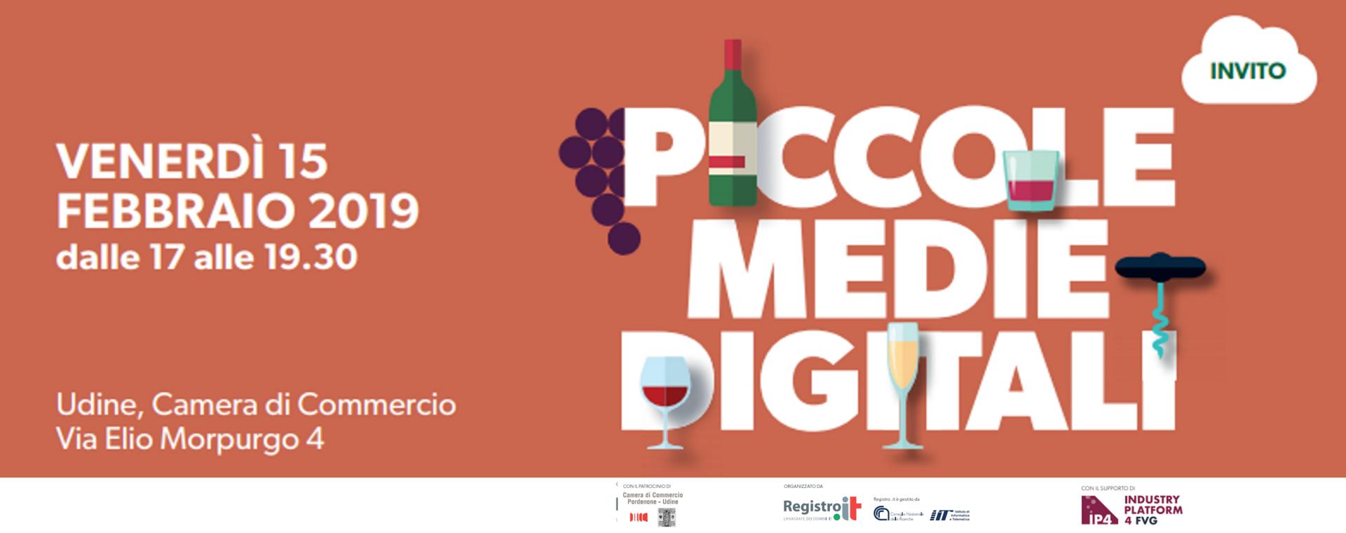 Vino e Digitale: a Udine la terza tappa di Piccole Medie Digitali, il roadshow di Registro.it