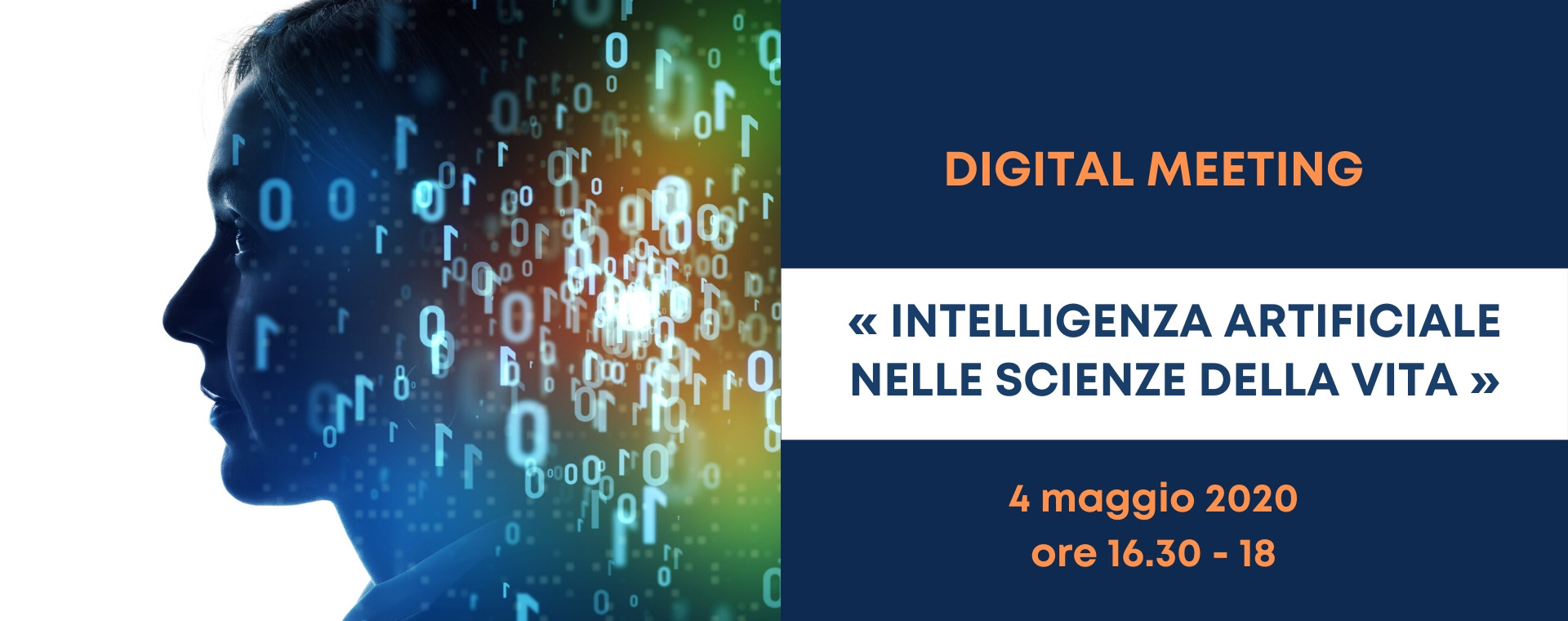 DIGITAL MEETING –  Intelligenza Artificiale nelle Scienze della Vita