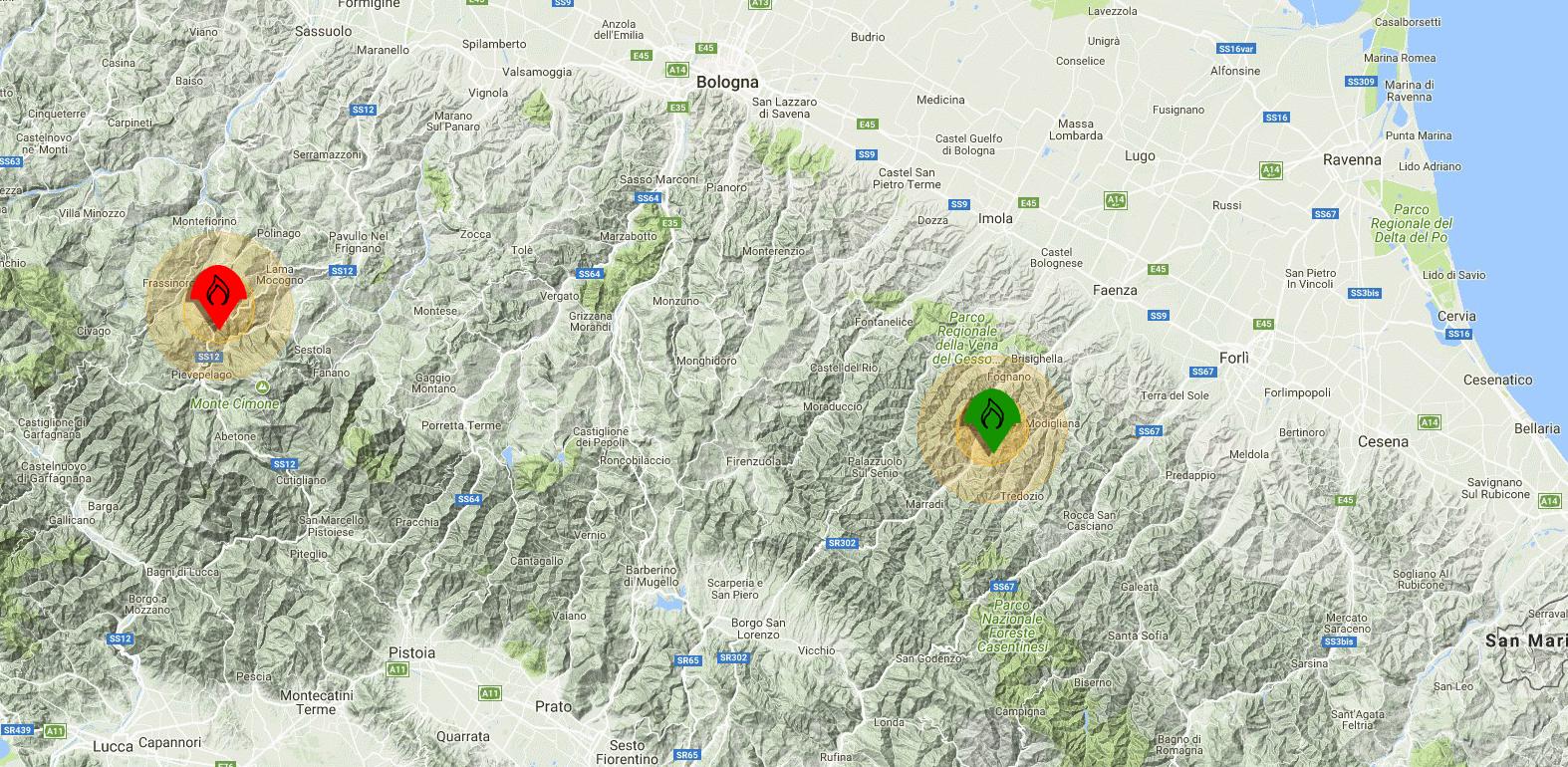 Emergenza incendi: un innovativo sistema di monitoraggio testato sull'Appennino Emiliano-Romagnolo