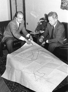 Da sinistra: Sindaco (Richetti) e il Presidente di AREA di allora (Anzellotti). Discussione del secondo progetto, che prevede due Campus distinti