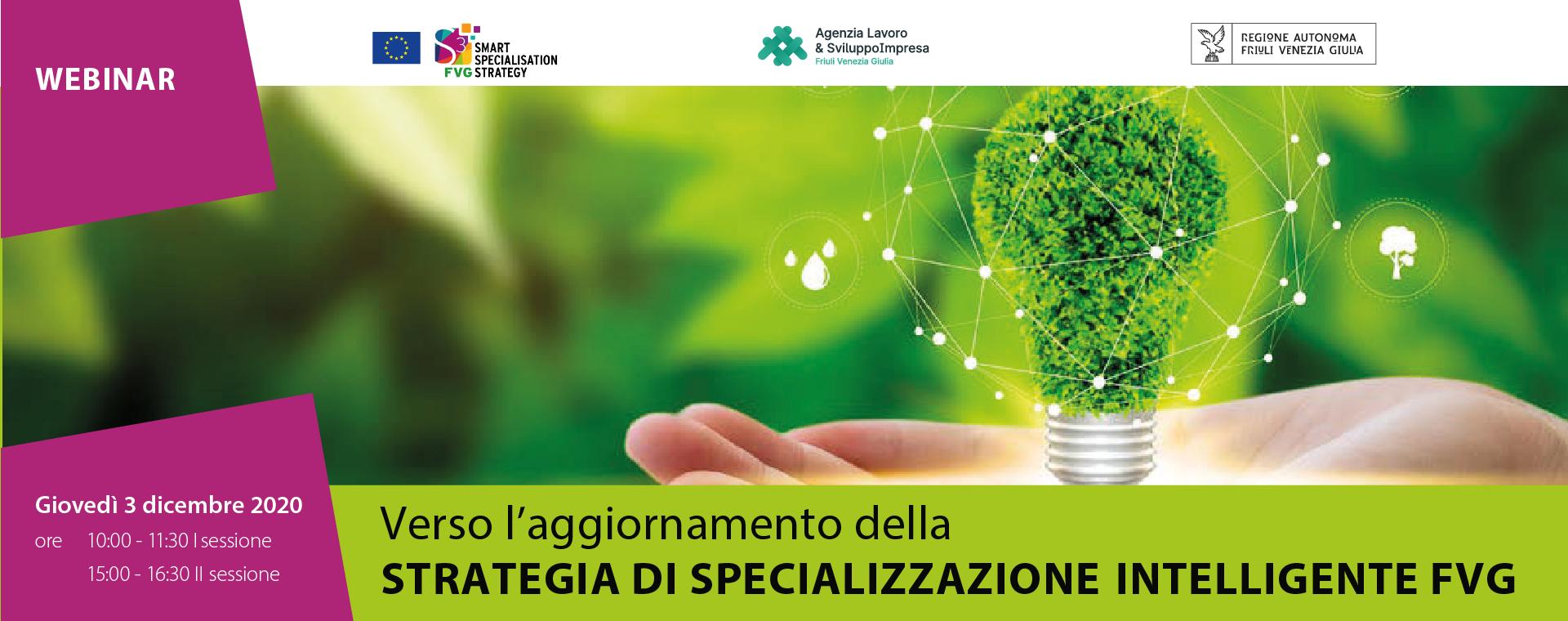 Aggiornamento sulla Strategia di specializzazione intelligente FVG