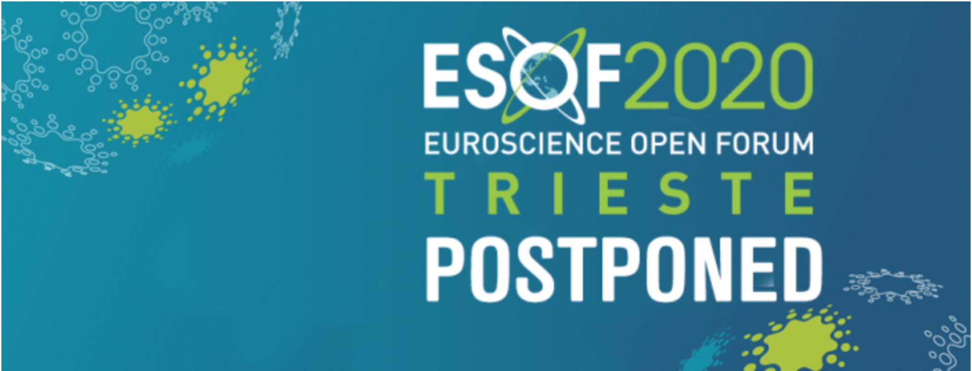 EuroScience Open Forum – ESOF2020 Trieste  rinviato al 2 – 6 settembre 2020