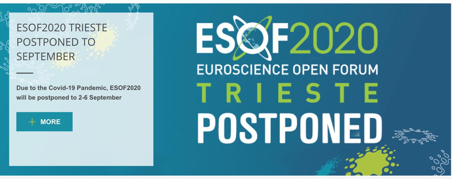 ESOF2020 riparte: presentati il nuovo formato e il programma aggiornato