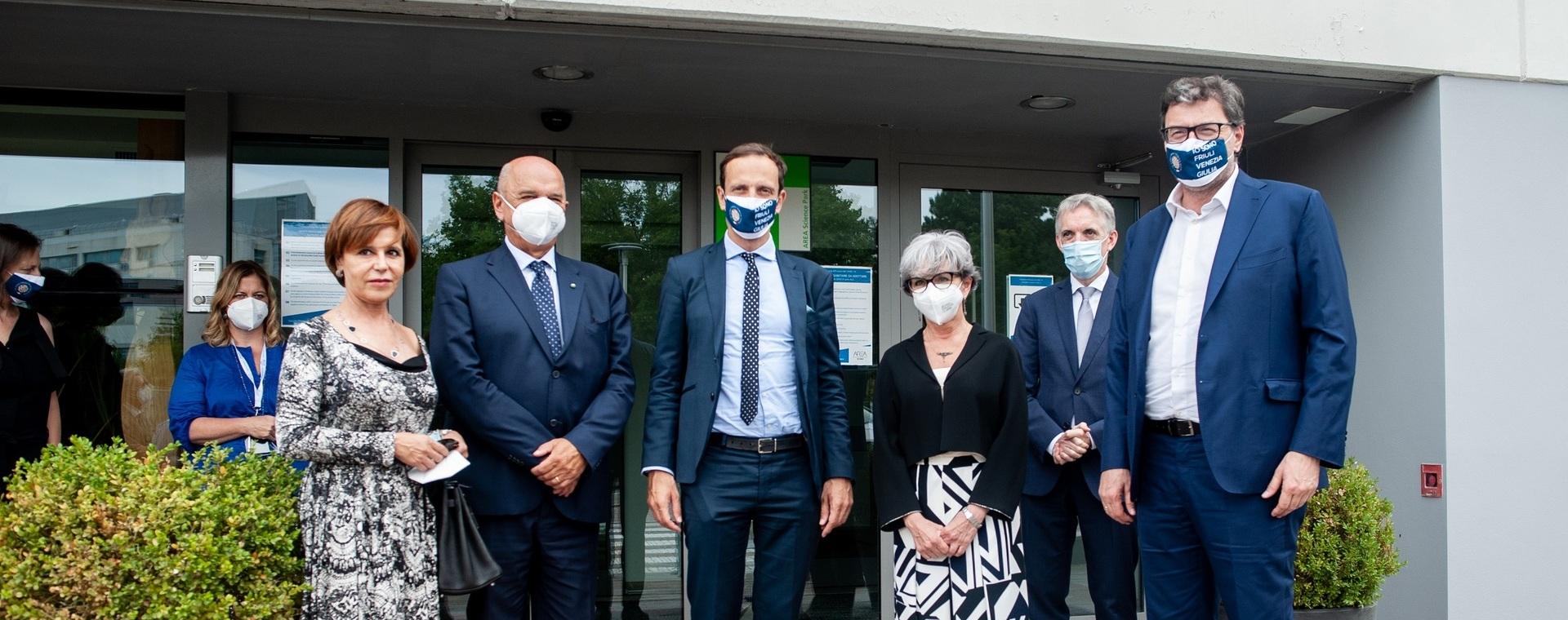"""Il Ministro Giorgetti in visita ad Area: """"Qui in FVG ho incontrato una realtà a cui ispirarsi"""""""
