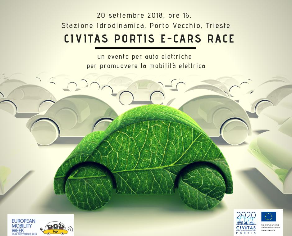 Hai una macchina elettrica? Partecipa alla CIVITAS PORTIS E-CARS RACE, un evento dedicato alle auto elettriche!