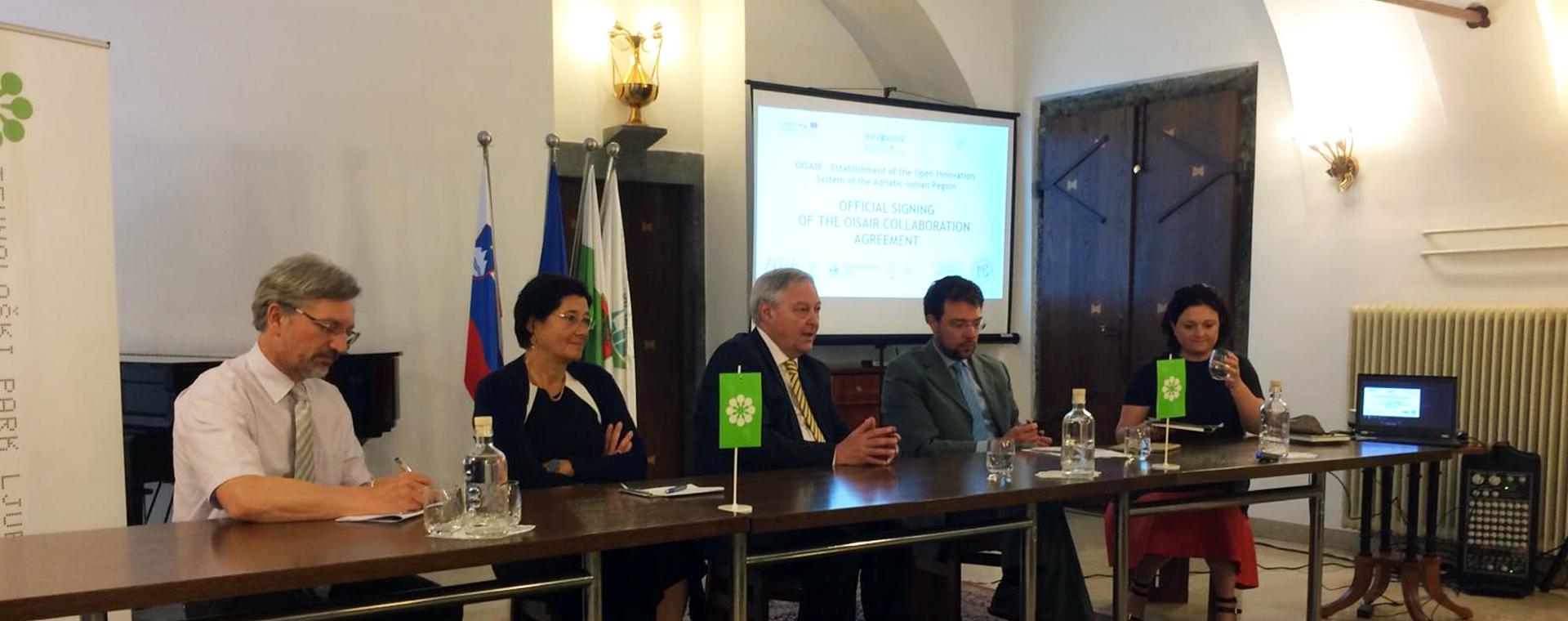 Siglato accordo di collaborazione tra i partner di Ois Air per creare una rete permanente di centri per l'innovazione nell'area Adriatico-Ionica