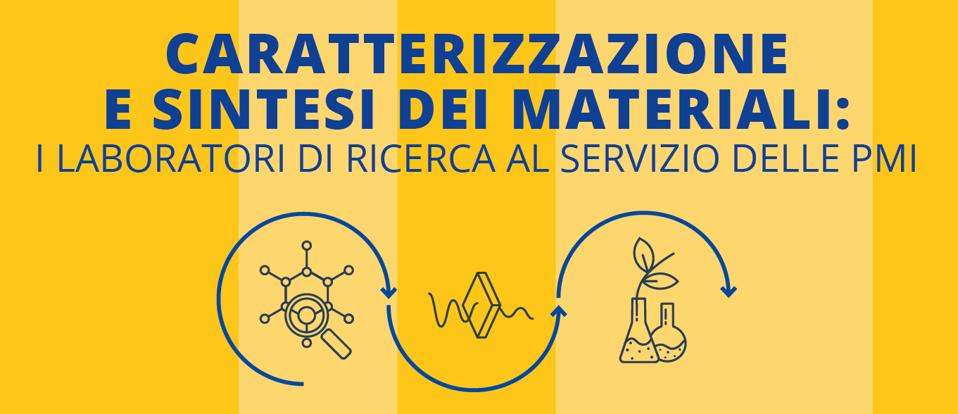 """Immagine: Webinar """"Caratterizzazione e sintesi dei materiali: i laboratori di ricerca al servizio delle PMI"""""""