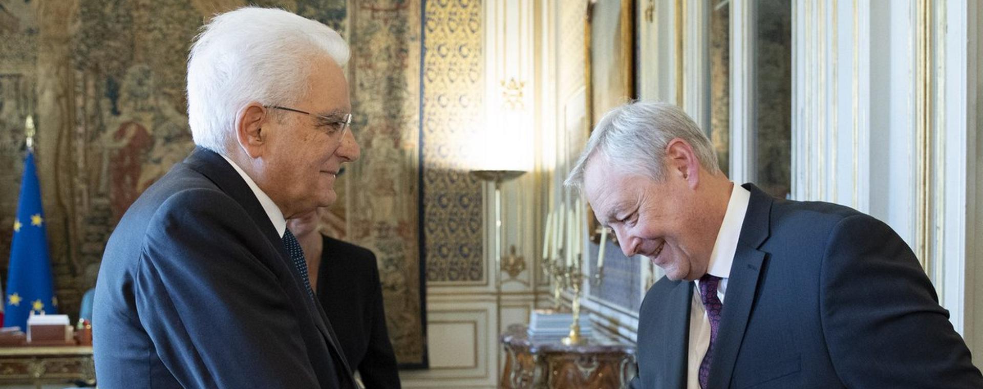 Il Presidente di Area Science Park ha incontrato Sergio Mattarella